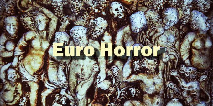 Der Tod und die Teufel mitten unter den ausgelassen feiernden Menschen stehen für den Euro-Horror